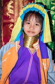 Karen Tribal Girl From Padaung Long Neck Hill Tribe Village