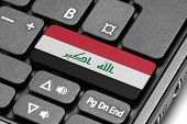 Go To Iraq! Computer Keyboard With Flag Key.