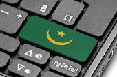 Go To Mauritania! Computer Keyboard With Flag Key.