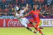 Sisaket Thailand-february 18: Ivan Boskovic Of Bec Tero (white) In Action During Thai Premier League