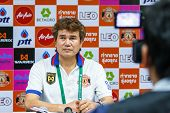 Sisaket Thailand-february 18: Chalermwoot Sa-ngapol Head Coach Of Sisaket Fc At A Press Conference A