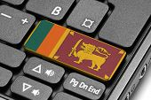 Go To Sri Lanka! Computer Keyboard With Flag Key.