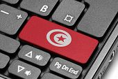 Go To Tunisia! Computer Keyboard With Flag Key.