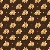 image of rabies  - Seamless pattern with dog bulldog vector background - JPG