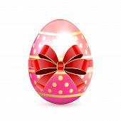 Pink Easter Egg With Bow