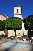 Church and fountain, Almeria.