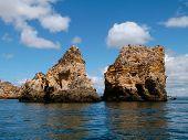foto of lagos  - The Costa Marina and rocks Algarve - JPG