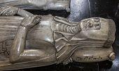 statue of queen Jeanne de France in  basilica of saint-denis