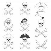 Jolly Roger in different versions.