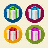 Vector present boxes collection. Flat Design