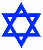 stock photo of hebrew  - The Star of David known in Hebrew as the Shield of David or Magen David - JPG
