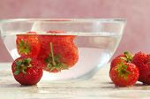 Strawberry In Cold Water