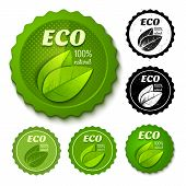 new and retro eco stamps
