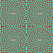 stock photo of hypnotizing  - Color hypnotic retro seamless pattern with eye - JPG