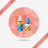 Christmas Candle Flat Icon With Long Shadow,eps10
