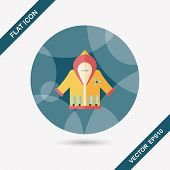 Christmas Clothes Flat Icon With Long Shadow,eps10