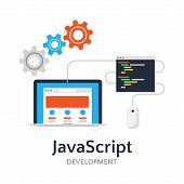 Javascript Flat Vector Illustration