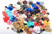 stock photo of no clothes  - a lot of color buttons for clothes - JPG