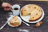 stock photo of cherry pie  - Pie  - JPG