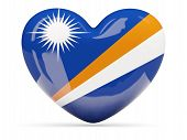 Heart Shaped Icon With Flag Of Marshall Islands