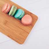 Set of colorful macaroons