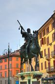Alessandro Farnese statue. Piacenza. Emilia Romagna. Italy.