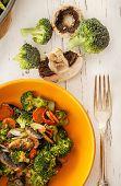 Fresh Diet Food - Broccoli With Mushrooms