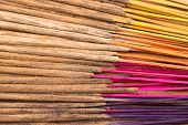 picture of blue rose  - Colorful incense stick - JPG