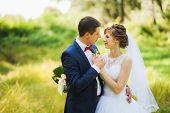 picture of enamored  - happy bride - JPG