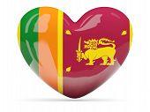 Heart Shaped Icon With Flag Of Sri Lanka