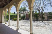 foto of carthusian  - Cartuja monastery courtyard Jerez de la Frontera C - JPG