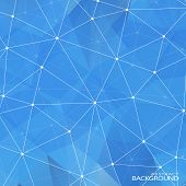 Geometric Triangular Abstract Blue Colors Background. Modern Design Templates