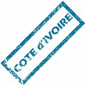 Cote d Ivore rubber stamp