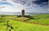 Ancient Old Irish Castle In Doolin, Ireland