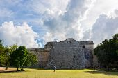 foto of mayan  - Beautiful view of historic Mayan Building - JPG