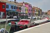 Colorful Burano Buildings