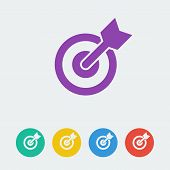 vector target flat circle icon