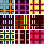 Abstract checkered vibrant colors pattern
