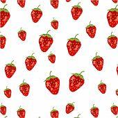 Seamless pattern - strawberries