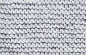 Background Large Knitted Woolen Threads Of Gray