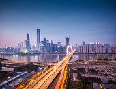 Cityscape Of Guangzhou In Nightfall