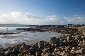stock photo of galway  - A view of Barna beach Co - JPG