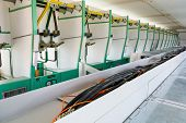 foto of substation  - Electric cabels on top of panels - JPG