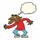 pic of gremlins  - cartoon old man with thought bubble - JPG