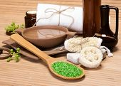 stock photo of bast  - Spa and pampering products and accessories - JPG