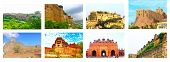 pic of quadrangles  - eight of the best forts in india - JPG