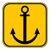 stock photo of anchor  - Anchor button on white background - JPG
