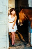 picture of horse girl  - Girl and Horse - JPG