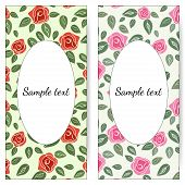 picture of pink rose  - Vector cards with roses - JPG