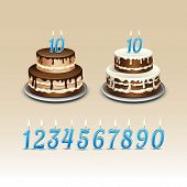 pic of candle flame  - Birthday Cake with Candles Numerals Flame Fire Light - JPG